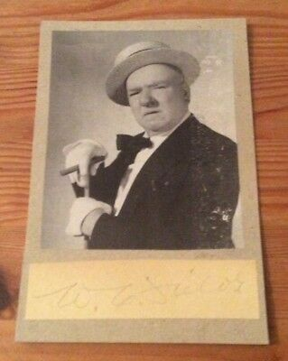 W.C.FIELDS  film movie Genuine authentic signature