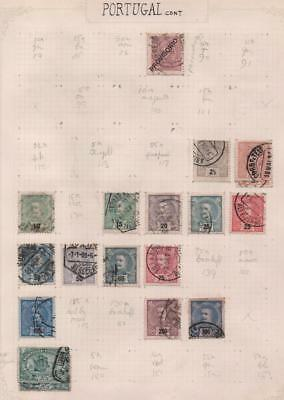 PORTUGAL: Used Examples - Ex-Old Time Collection - Album Page (11398)