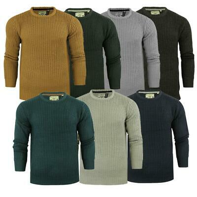 Mens Chunky Crew Neck Knitted Jumpers Fishermans Light Knit By Brave Soul