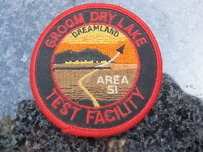 JUMPSUIT STYLE PATCH for AREA 51 GROOM DRY LAKE TEST FACILITY - Dreamland - used