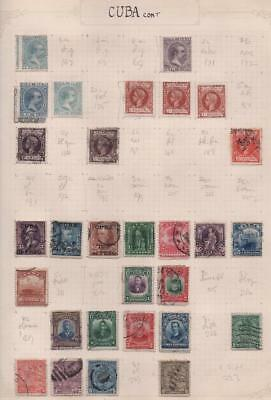 SOUTH AMERICA: Used/Unused Examples - Ex-Old Time Collection: Album Page (11378)