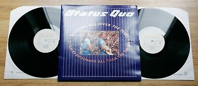 STATUS QUO Rocking All Over The Years 2xLP MINT-/EX++ 1st UK Press 1990 + Inners