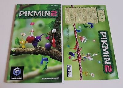 Nintendo GameCube - Pikmin 2 Manual & Unused VIP Leaflet - VGC - Rare