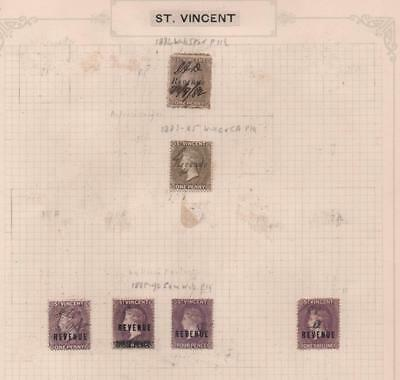 ST.VINCENT: Used Revenue Examples - Ex-Old Time Collection - Album Page (11602)
