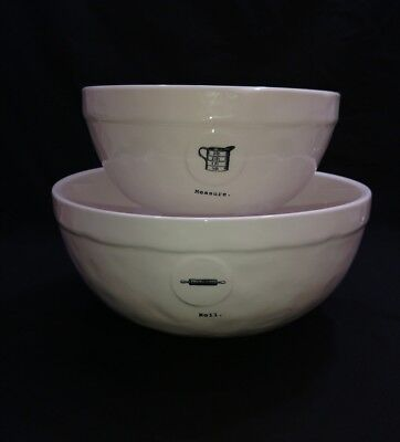 Rae Dunn Icon Roll and Measure Mixing Bowl Set