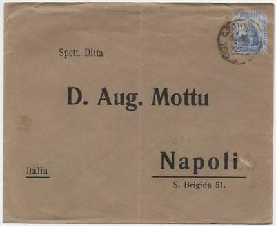TRINIDAD: 1912 2½d Example on Cover to Naples - G.P.O./Naples Cancels (11682)