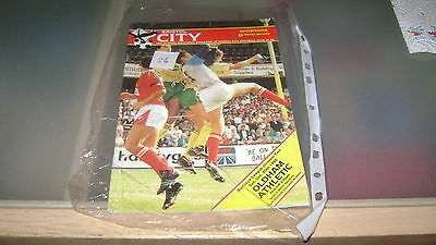 bristol city v oldham athletic 90/91 div 2 programme v good condition
