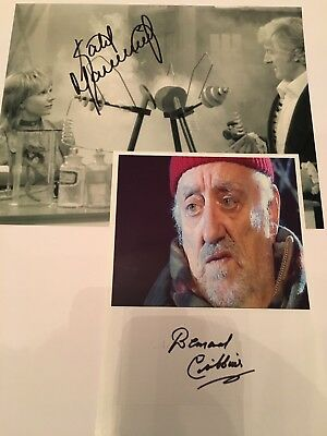 KATY MANNING Dr Who ASSISTANT Josephine Grant And Bernard Cribbins Photos Signed