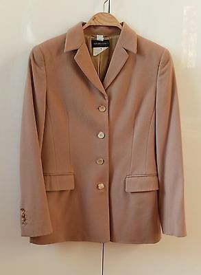 ANTONIO FUSCO Vintage Blazer camel IT 46 /12 40/42 Business beige 5 Knopf Wolle