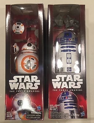 Star Wars E7  R2-D2 & BB-8 12-Inch Action Figures Hero Series - NEW And Sealed.