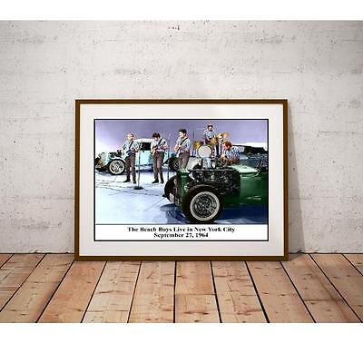 The Beach Boys 1964 Poster - Live in New York City - Hot Rod Roadsters