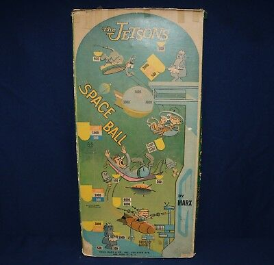 Jetsons 1962 Space Ball Bagatelle Pinball Game Box Only Marx
