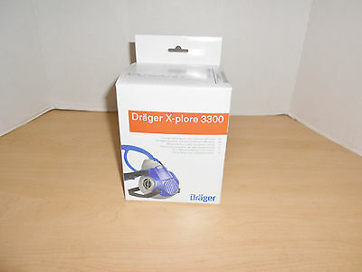 Drager X-Plore 3300 Half Mask Reusable Face Respirator Size S-Sealed #55331