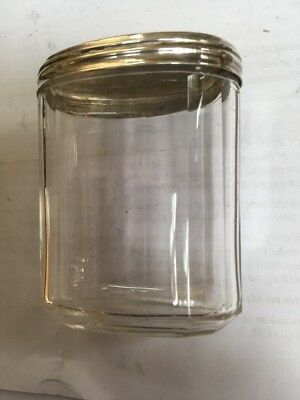 Antique Oval Silver Top Dressing Table Jar Bottle London 1891