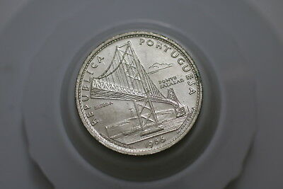 Portugal 20 Escudos 1966 Silver Lacquered For Preservation A72 #3341