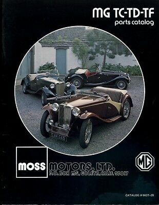 MG TC, TD, and  TF Moss Motors Parts Catalog 1979