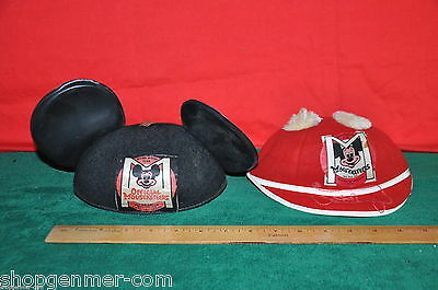 Benay-Albee Walt Disney Productions Mickey Mouse Club Mousketeers Hats Lot Of 2
