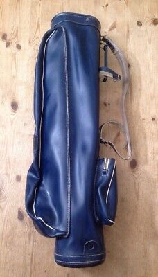 Vintage GRABAN Golf Bag - Made In Scotland / Grey Blue Leatherette