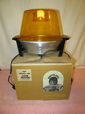 Vintage Hamilton Beach Butter-Up Electric #499 Popcorn Popper - Joe Namath Box