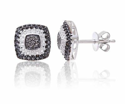 Theia Sterling Silver Round Shaped Pretty Tanzanite Gem Stone with a Diamond Frame Stud Earrings ypo04IT