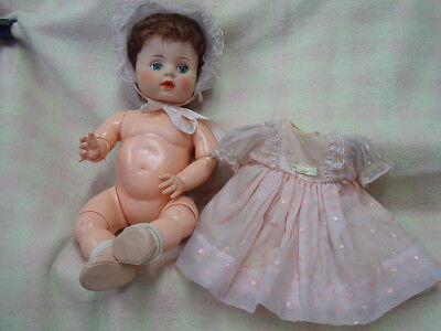 """1950s Alexander """"Kathy"""" Drink and Wet Baby Doll, Rare Jointed Knees & Elbows"""