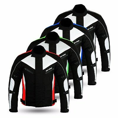 Mens Waterproof Motorbike Motorcycle Textile Cordura CE Approved Armour jacket
