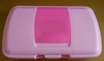 Pink B Box Nappy & Wipes Travel Container w flower change mat