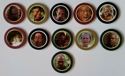 The Walking Dead Tokenz Lot Of 11 TWD Daryl Merle Dixon Michonne Pets Chips Coin