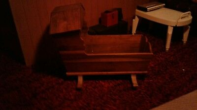 Antique wooden baby craddle