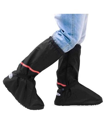 1 Pair Re-Usable Waterproof Shoe Cover Anti Skid Motorcycle Garden Camping