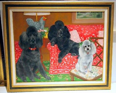 Fine Dog Painting Large By Listed Australian  Artist :Constance Coleman C 1989