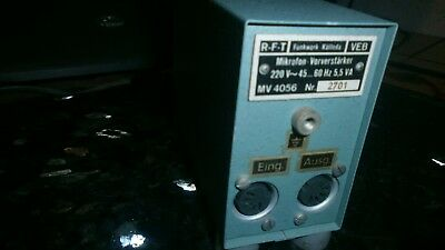 RFT MV4056  mic tube pre amp  NOS ex-rft rack perfect + 2 wires from DIN to XLR