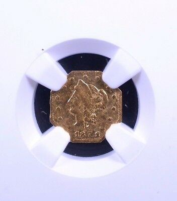 1871 50C Octagonal Liberty Head California Fractional NGC AU 58 4352950-003