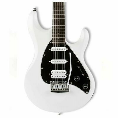 Sterling by Music Man SUB Silo3 Electric Guitar White  HSS Tremolo Silo