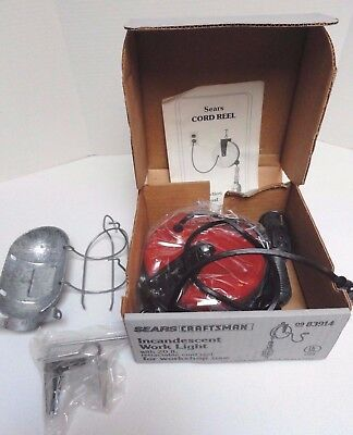 Vintage Sears Craftsman work light w/ retractable reel 83914 NEW USA Made