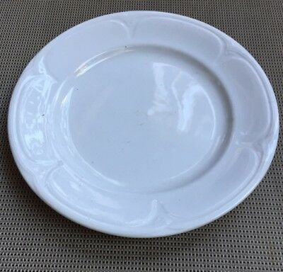 White Ironstone Plate By Jacob Furnival 1845-1870 England 10""