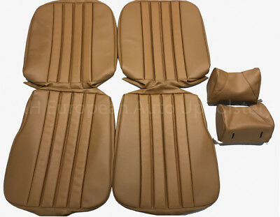 MERCEDES 28SL, W113 1968-71 Seat Covers kit 63-71 MB - Tex Vinyl Tan