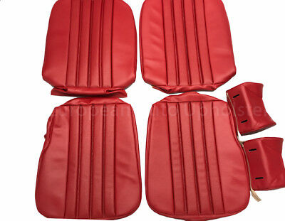 MERCEDES 28SL, W113 1968-71 Seat Covers kit 63-71 MB - Tex Vinyl Red
