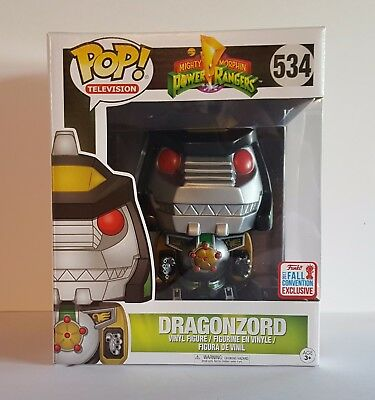 NYCC 2017 FUNKO POP! Television Power Rangers Green DRAGONZORD IN HAND RARE POP