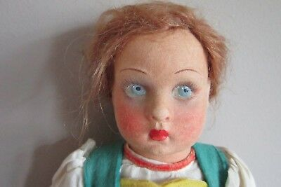 Vintage Lenci Doll With Blue Eyes 13 Inches