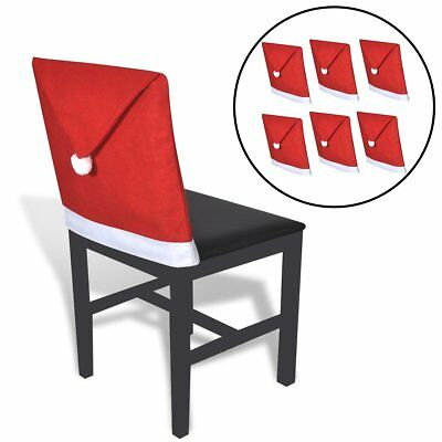 6 Santa Clause Hat Chair Back Cover Christmas Dinner Table Party Decor Gift Xmas