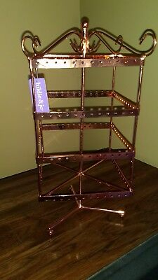 Hildie & Jo Shiny Copper Rotating Jewery Cage Stand  NWT New