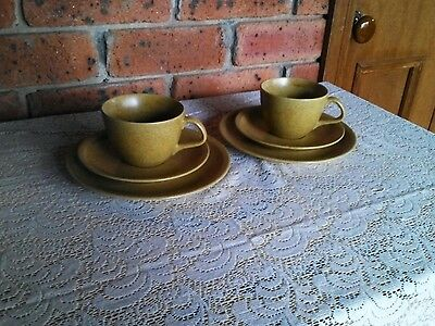 AS NEW:Vintage 1960s Stoneware Trios (2 Sets)-Danish Style Yamoto Japan