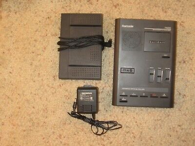 Olympus Pearlcorder T1000 Transcriber Microcassette W/ Rs19 Foot Pedal Tested