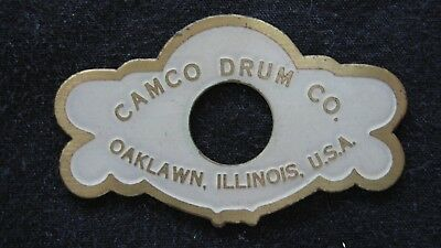 Camco Drum Co. Badge Oaklawn, IL 1ea.