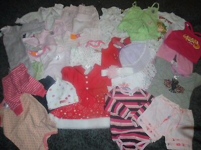 Bulk Baby Girls Size Nb - 000 Summer Clothing - 31 Items Inc Bonds/pumpkin Patch