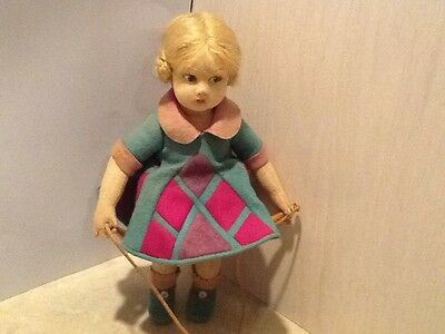 """Lenci Doll with Jumping Rope original 12"""""""