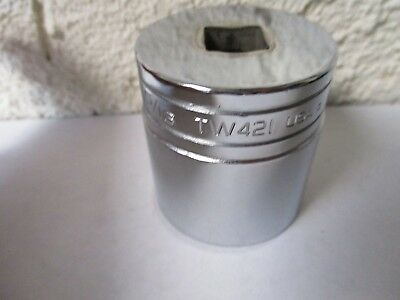 """Snap-On TW421 1 5/16"""" Shallow Socket 6 Point 1/2"""" Drive - Very Good Condition"""