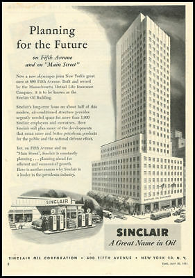 1951 vintage ad for Sinclair