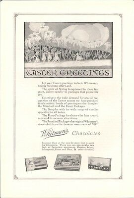 Easter Greetings Fussy Packages of Whitmans Chocolates Vintage Ad 1926